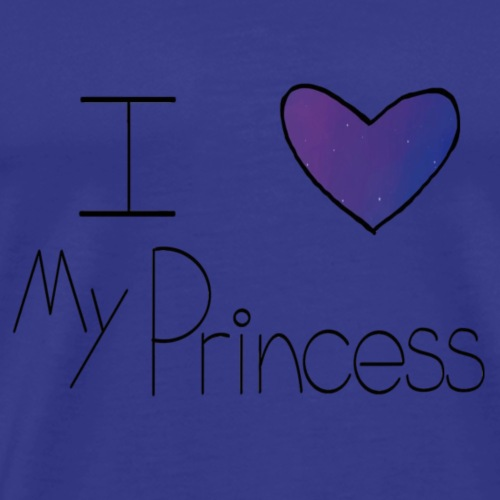 Galaxy I Heart My Princess - Men's Premium T-Shirt