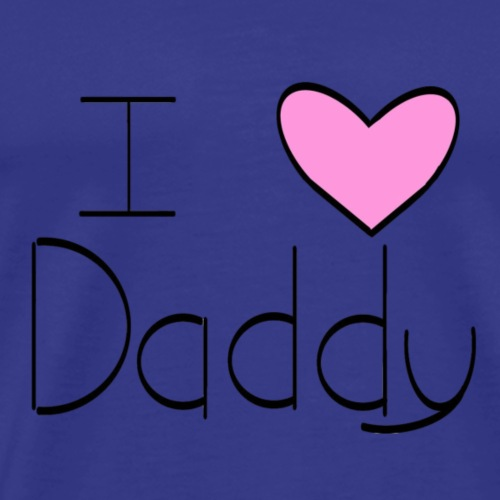 Pink I Heart Daddy - Men's Premium T-Shirt