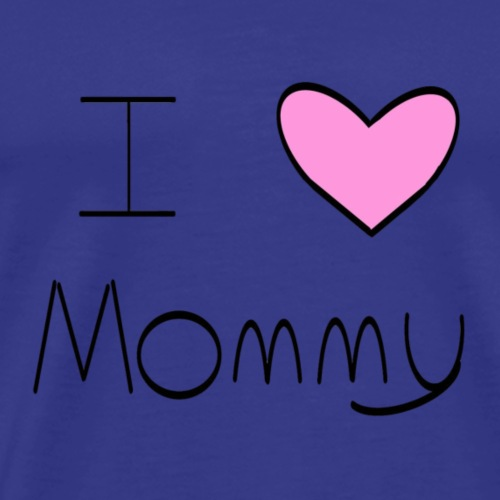 Pink I Heart Mommy - Men's Premium T-Shirt