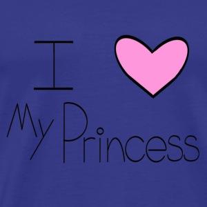 Pink I Heart My Princess - Men's Premium T-Shirt