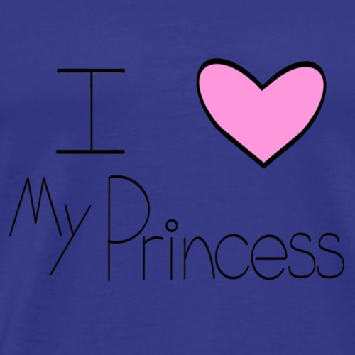 Pink I Heart My Princess - Men's Premium T-Shirt