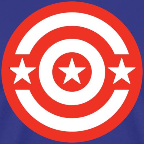 Washington DC Shield_Red - Men's Premium T-Shirt