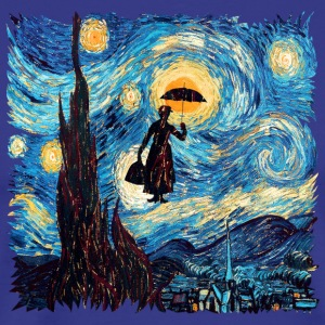 Mary Poppins starrynight - Men's Premium T-Shirt
