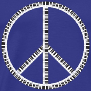 peace with pianokeys - Men's Premium T-Shirt