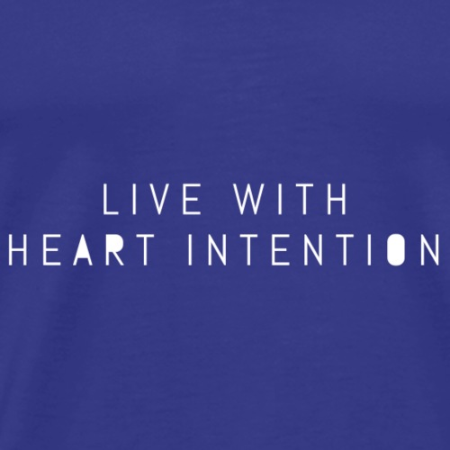 live with heart intention filled lettering- white - Men's Premium T-Shirt