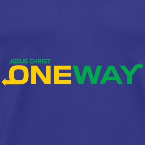 Jesus Christ one way,Christian,Bible Quote - Men's Premium T-Shirt