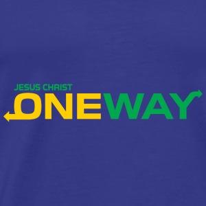 Jesus Christ one way,Christian,Bible Quote - Men's Premium T-Shirt
