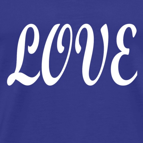 Love white font - Men's Premium T-Shirt
