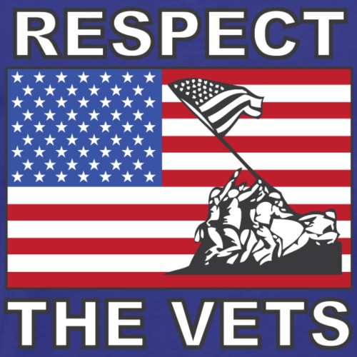 Respect The Veterans - Men's Premium T-Shirt