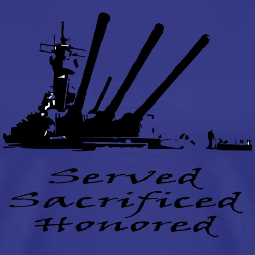 Navy Served Sacrificed Honored - Men's Premium T-Shirt