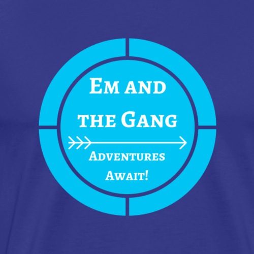 Em and the Gang circle logo - Men's Premium T-Shirt