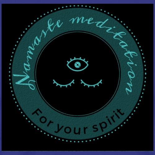 Namaste meditation logo black/blue - Men's Premium T-Shirt