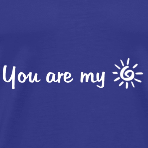 Sun (White letters) - Men's Premium T-Shirt
