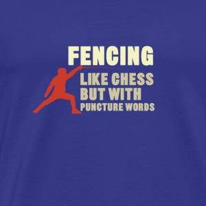 fencing - Men's Premium T-Shirt