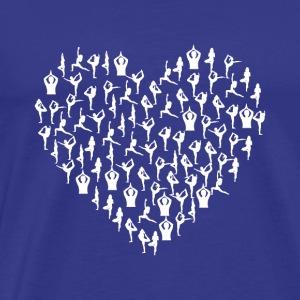 Yoga Heart Edition White Version - Men's Premium T-Shirt