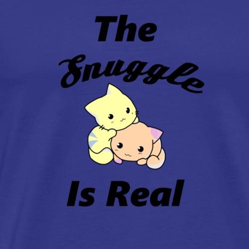 The Snuggle Is Real Cute Cat Cuddling Funny Shirt - Men's Premium T-Shirt