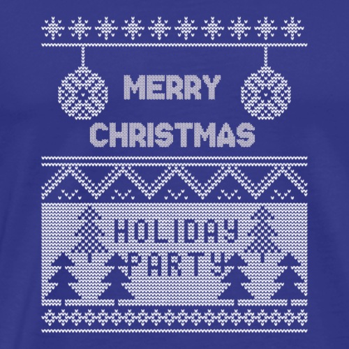 Merry Christmas Holiday Party Ugly Sweater - Men's Premium T-Shirt
