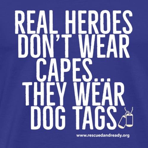 Real Heroes White - Men's Premium T-Shirt