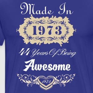 Made in 1973 44 years of being awesome - Men's Premium T-Shirt