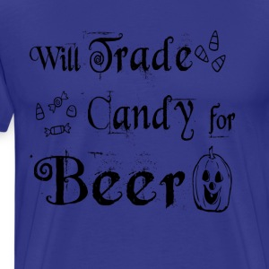 Will Trade Candy for Beer Halloween T Shirt - Men's Premium T-Shirt