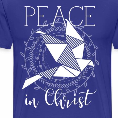 ladies Peace In Christ Dove Wreath - Men's Premium T-Shirt