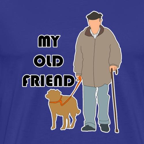 old man with dog - Men's Premium T-Shirt