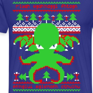 Cthulhu Christmas - Men's Premium T-Shirt