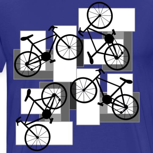 Bicycle White Rectangles - Men's Premium T-Shirt