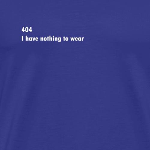 Fashion blogger Nothing to wear design - Men's Premium T-Shirt