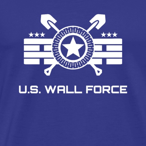 United States WALL FORCE (white) - Men's Premium T-Shirt