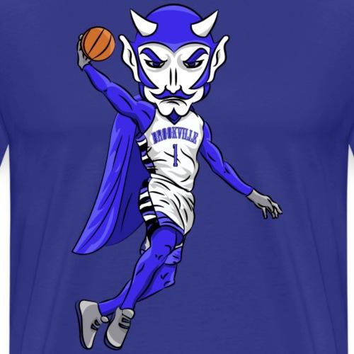 Blue Devils Mascot Basketball - Men's Premium T-Shirt