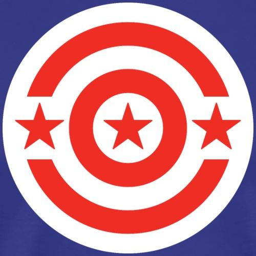 Washington DC Shield_White - Men's Premium T-Shirt