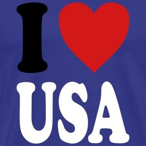 I love USA (variable colors!) - Men's Premium T-Shirt
