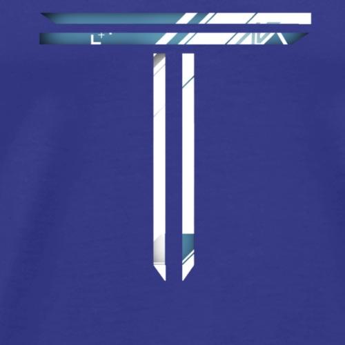 Blue T Logo - Men's Premium T-Shirt