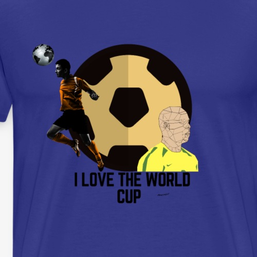I LOVE THE WORLD CUP - Men's Premium T-Shirt