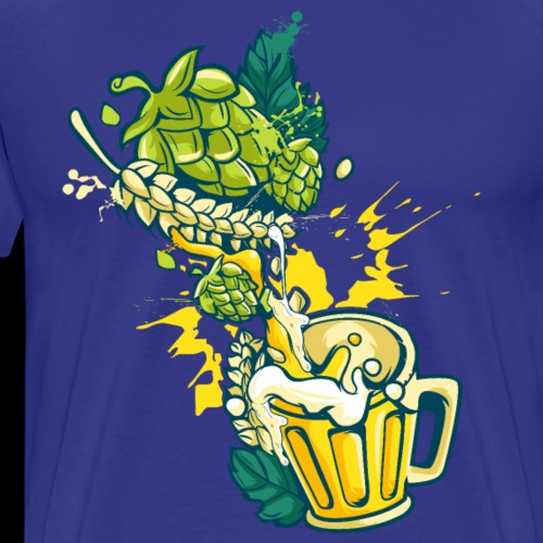 Craft Beer Hops Malt Alcohol Brewing - Men's Premium T-Shirt