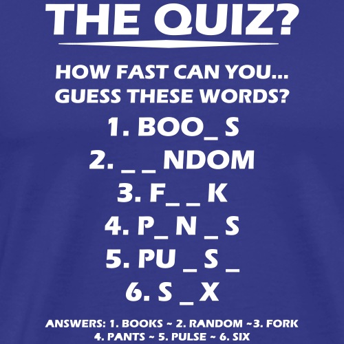 The Quiz - Men's Premium T-Shirt