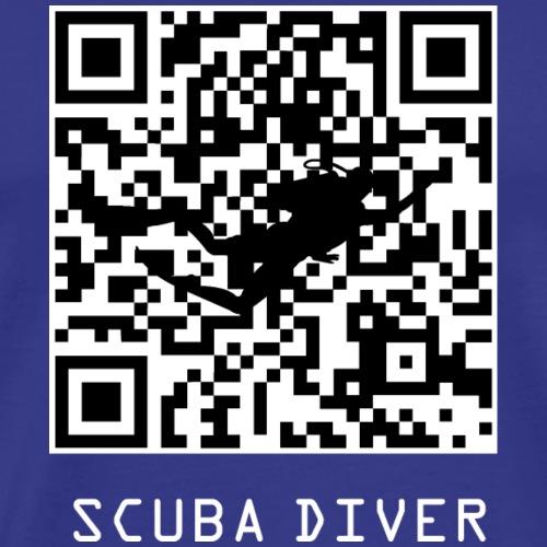 QR SCUBA DIVER CODE - Men's Premium T-Shirt