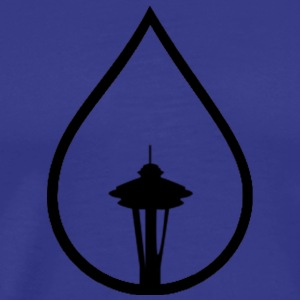 Seattle Space Needle Rain Drop - Men's Premium T-Shirt