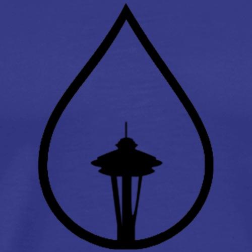 Seattle Space Needle Rain Drop - Men's Premium T-Shirt