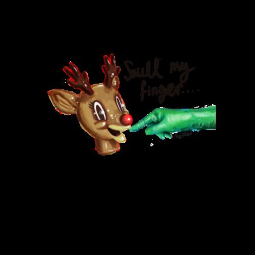 Runforthecube - Smell My Finger - Reindeer - Men's Premium T-Shirt