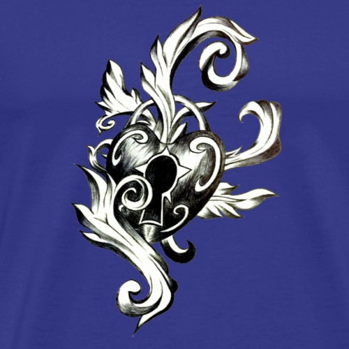 Keylock Heart - Men's Premium T-Shirt