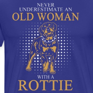 OLD WOAN ROTTIE DOGS T-Shirt - Men's Premium T-Shirt