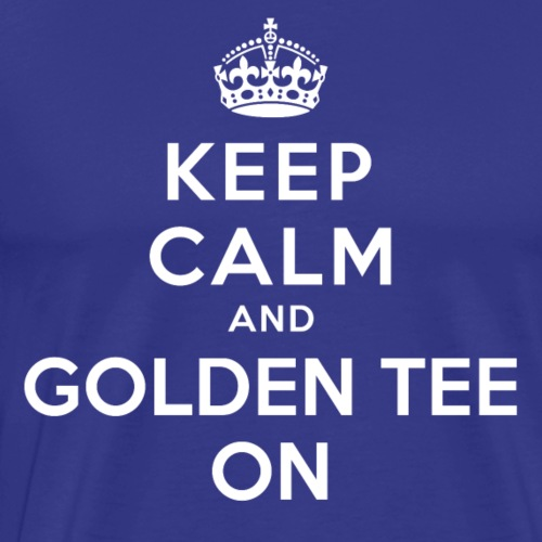 Original Keep Calm (White) - Men's Premium T-Shirt