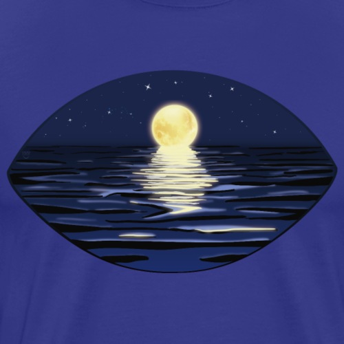 Full moon night in summer with starry sky - Men's Premium T-Shirt