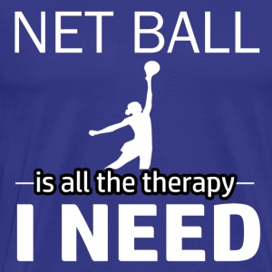 Netball is my therapy - Men's Premium T-Shirt