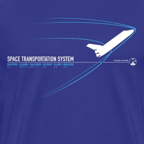 Space Shuttle - Blue - Men's Premium T-Shirt