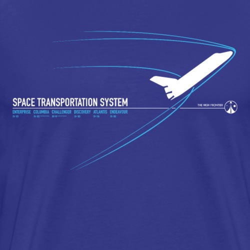 Space Shuttle - Blue - Men's Premium T-Shirt