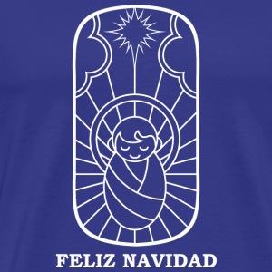 feliz navidad (white) - Men's Premium T-Shirt