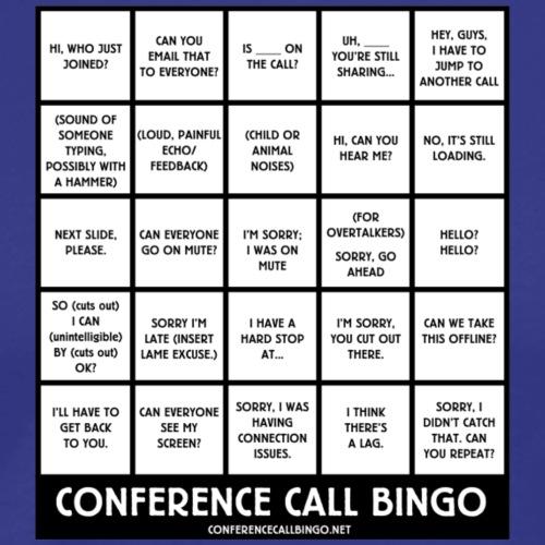 Conference Call Bingo: the Game - Men's Premium T-Shirt